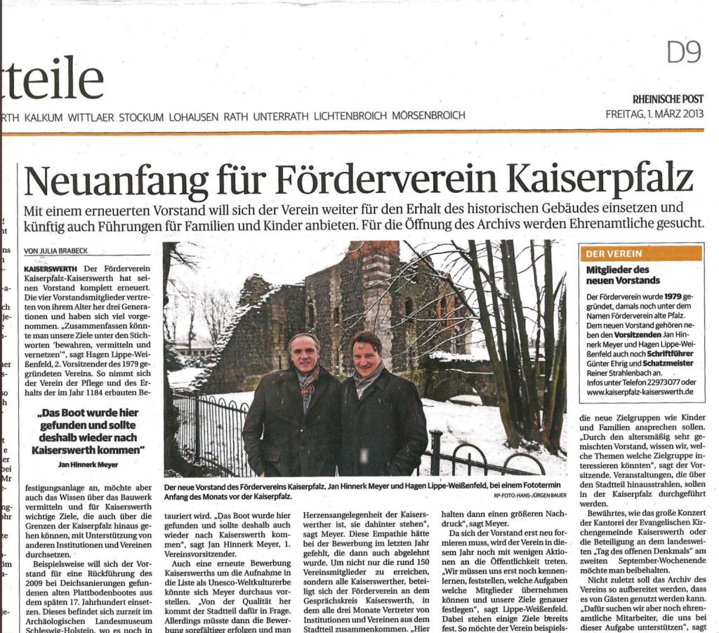 Neuanfang für Förderverein Kaiserpfalz